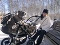 Зимняя прогулка по парку с сыночком Славушей