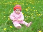 моя малышка -мой весенний цветочек