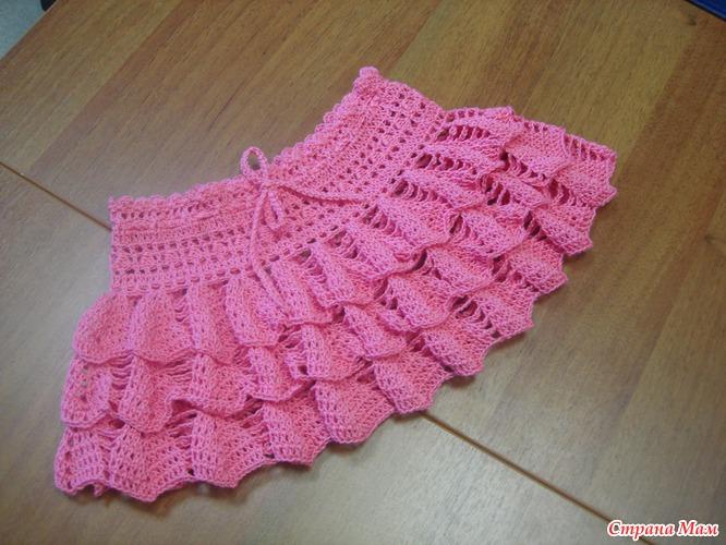 юбка для алисы вязание для детей страна мам