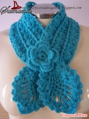 Как связать такой шарф?