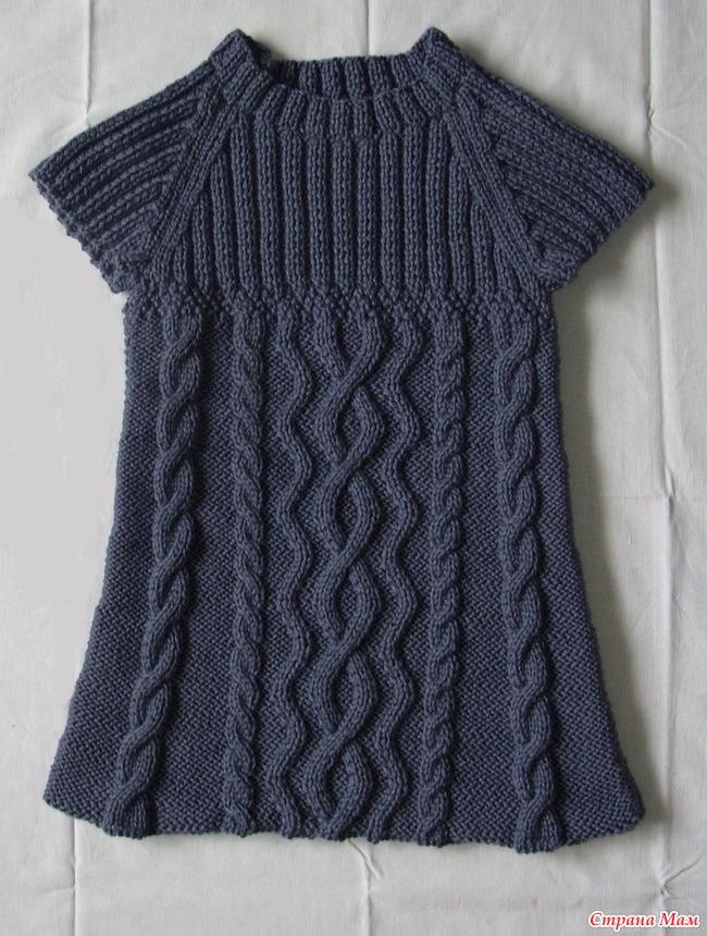 853a0ea2f56 Туника для девочки) - Вязание для детей - Страна Мам