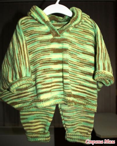 Комплект: пончо с капюшоном + штанишки