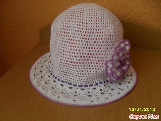 Шляпочка с розочкой http://www.stranamam.ru/post/2538823/