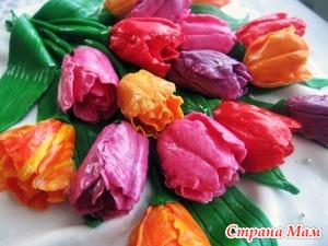 Тюльпаны из мастики МК