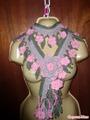 цветочный шарфик