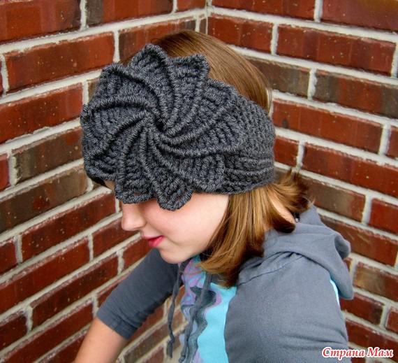 Теплые повязки на голову крючком - В.Г.У. - Вязаные ...
