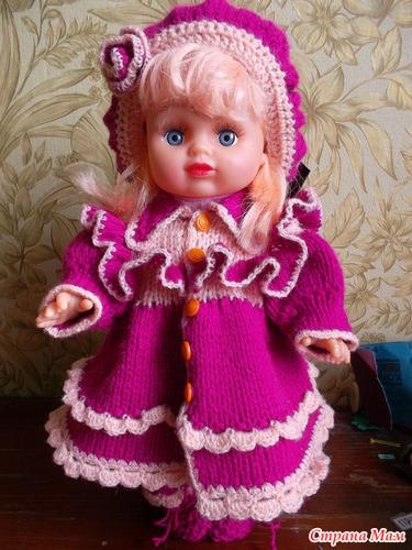 вязанная одежда для куклы вязание страна мам