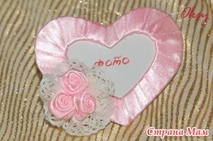 3 в 1 - валентинка - магнитик на холодильник - рамка для фото. МК