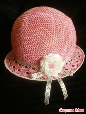 Как я ввязываю регилин в поля шляпки