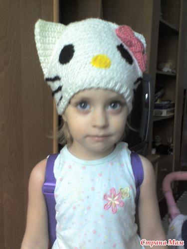 Шапка Hello Kitty. - Вязание для детей - Страна Мам