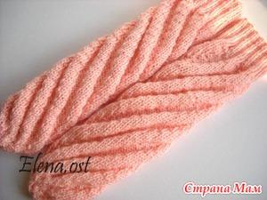Вяжем носки по спирали (МК)