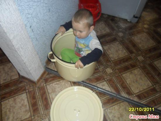 Внук тоже долго думал,думал,да в суп попал