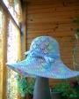 Та же шляпка,но с ниток БЕГОНИЯ