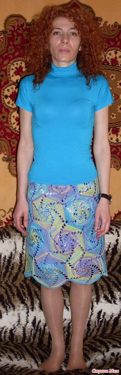 95e88293267 Летняя юбка из шестиугольных мотивов - Все в ажуре... (вязание ...