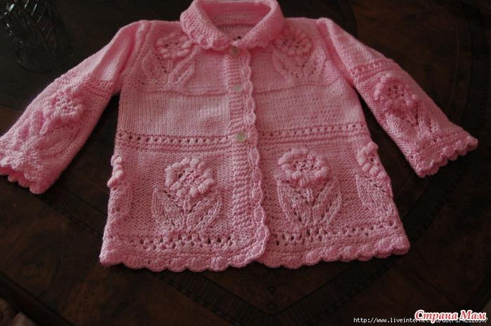 кофточка в прохладный летний вечерок вязание для детей страна мам