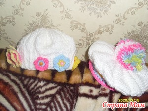 Шапульки для малышки