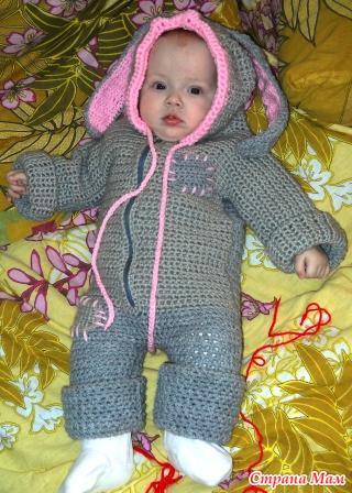 комбезик зайка вязание для детей страна мам