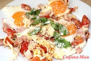 Моя яичница на завтрак