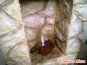 Камин с живым пламенем - в любой квартире. МК