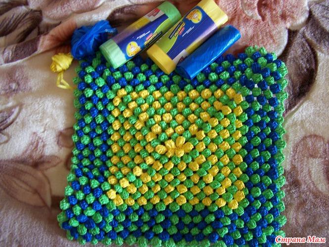 коврик из пакетов вязание страна мам