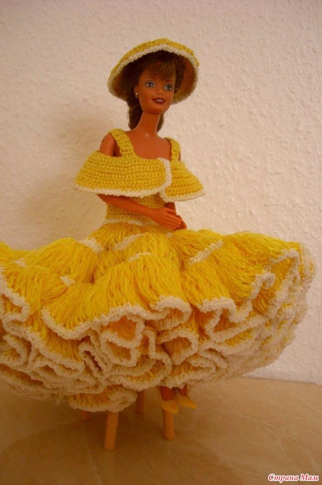 Вязаные платья для Барби - Вязание - Страна Мам