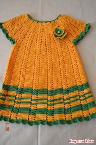 Вязание платья и туники для девочек 752