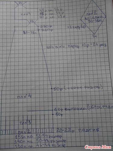Схема вязания ажурных колготок