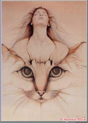 """Женщина-кошка. (из цикла """"Лики женщины"""")"""