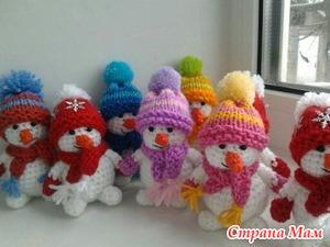 Шапочки снеговиков своими руками фото 810