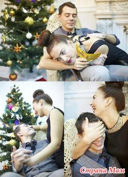Профессиональная новогодняя фотосессия для всей семьи