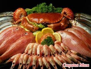 Морепродукты и рыба в питании малышей. Качество продуктов.