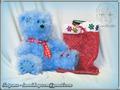 Мишка-теддик + мешочек для подарков