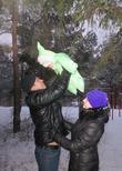 Первый снег первой зимы Мишутки!