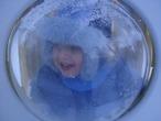 Зима в иллюминаторе!