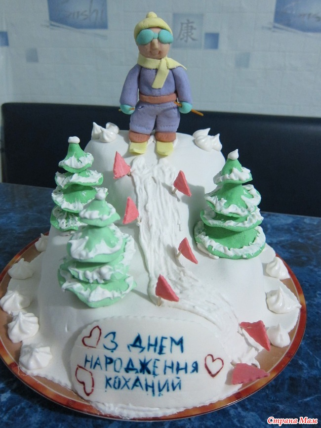 Картинки с днем рождения лыжнику