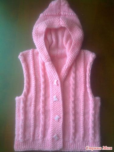 жилет с капюшоном вязание для детей страна мам
