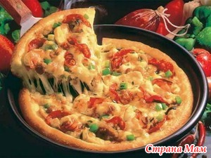. Пицца на сковороде за 10 минут