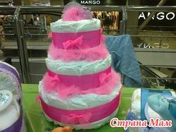 Изготовлю тортики из памперсовю