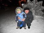 На прогулке с дедушкой!