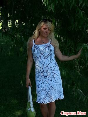 Моё платье на основе салфетки