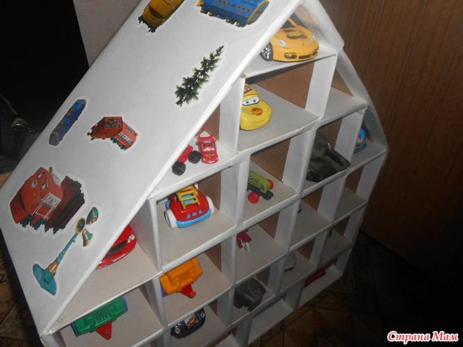 Детский гараж для машинок своими руками