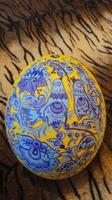 Роспись на страусином яйце