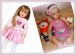 Моя дочка Полиночка и куколка MIA!!!