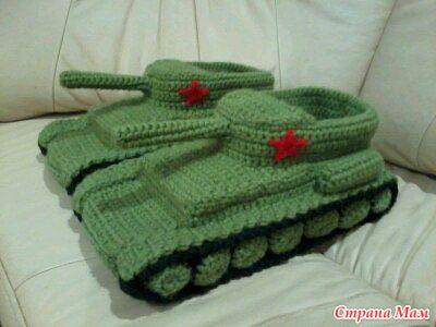 Схема для вязания танка 111