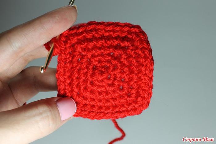 уроки вязания крючком вязание квадрата 3 способа счастливая