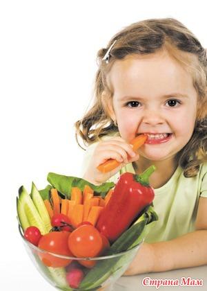 Польза овощей для детского питания