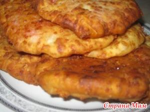 . Сырные лепешки с начинкой