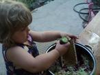 Помогаем бабушке делать окрошку