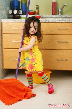 Делаем уборку вместе с детьми
