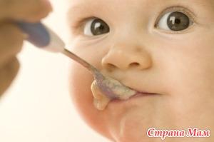 Польза прикормов для малышей